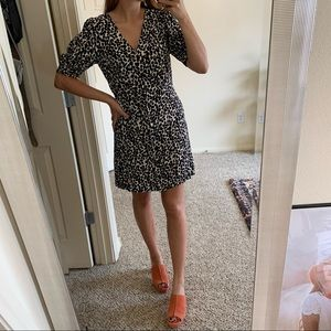 H&M spotted button down dress